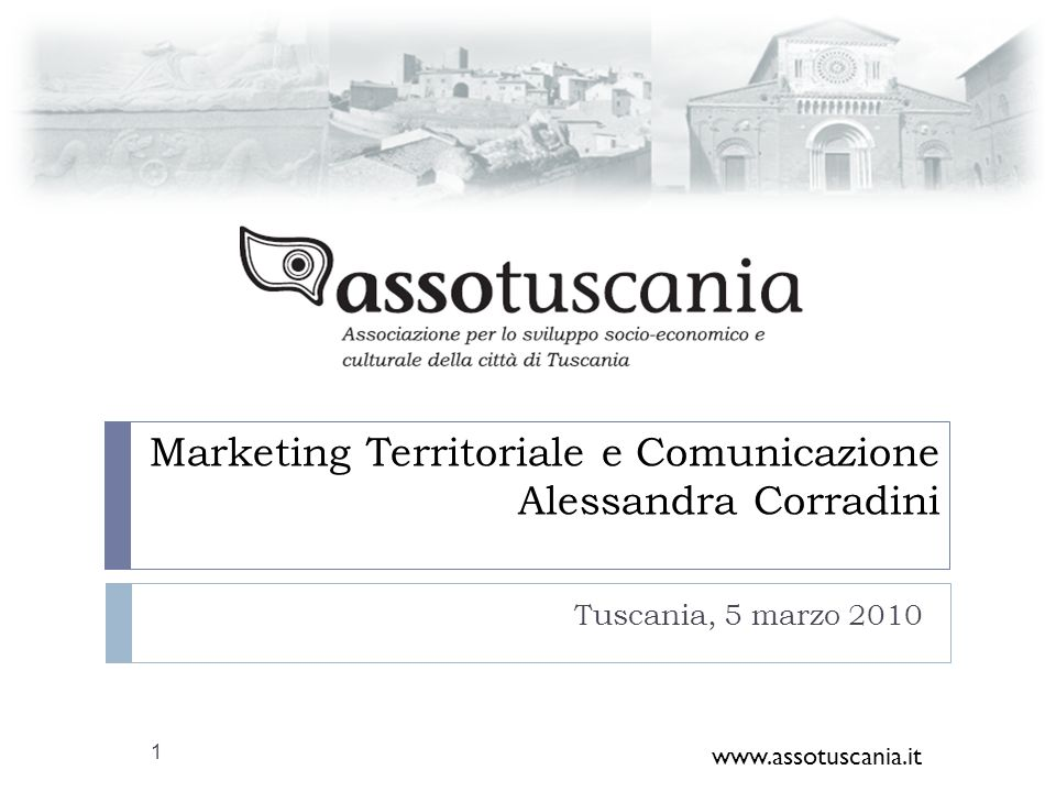 Marketing Territoriale e Comunicazione Alessandra Corradini
