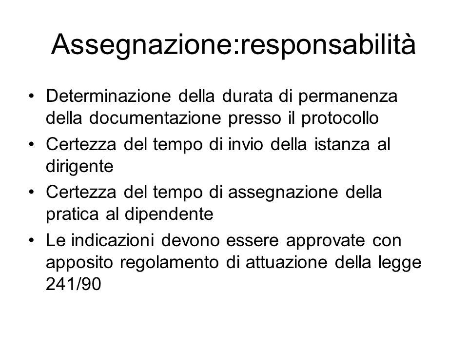 Assegnazione:responsabilità