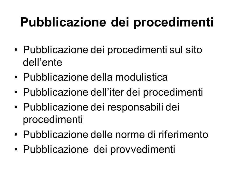 Pubblicazione dei procedimenti