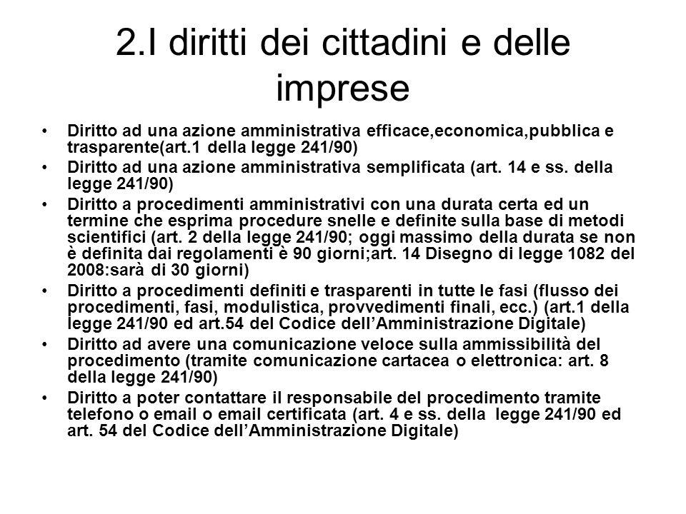 2.I diritti dei cittadini e delle imprese