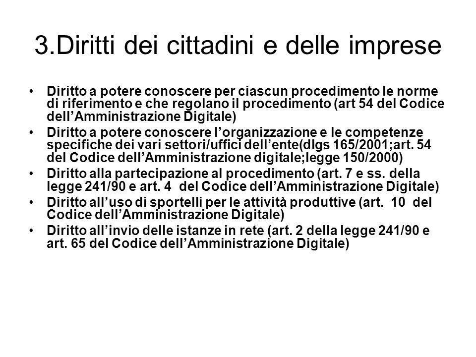 3.Diritti dei cittadini e delle imprese