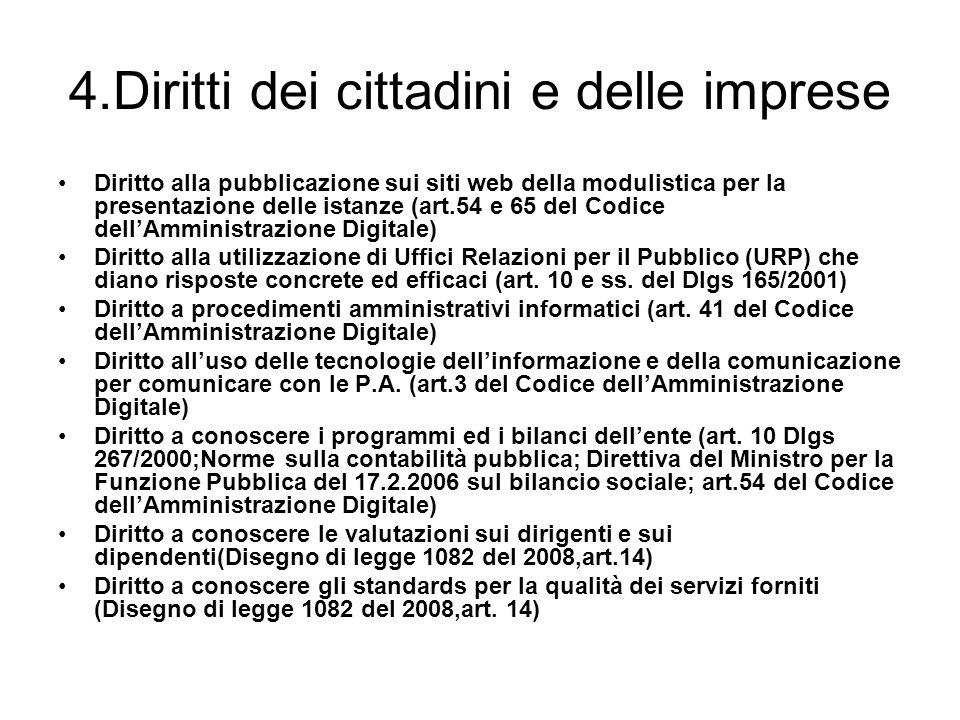 4.Diritti dei cittadini e delle imprese