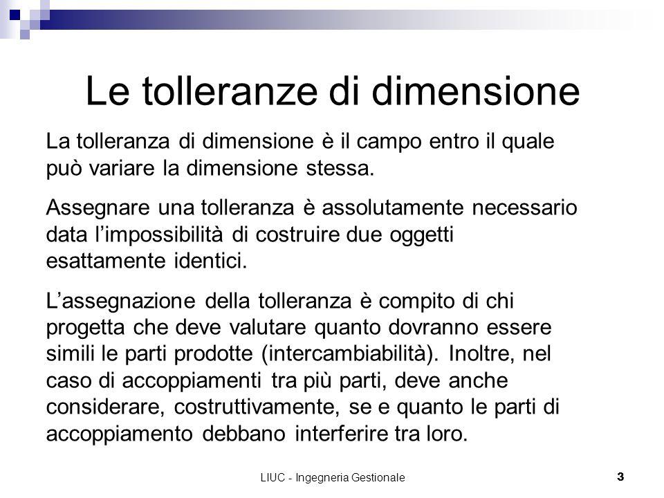 Le tolleranze di dimensione
