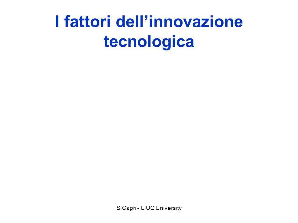 I fattori dell'innovazione tecnologica
