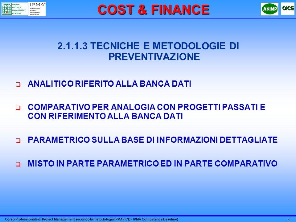 2.1.1.3 TECNICHE E METODOLOGIE DI PREVENTIVAZIONE