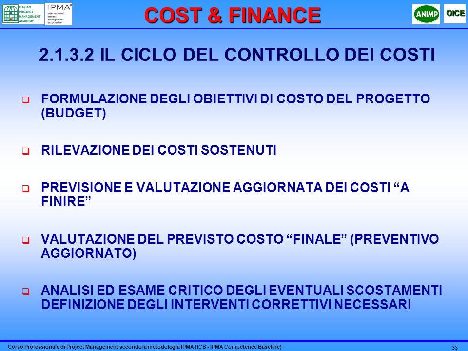 2.1.3.2 IL CICLO DEL CONTROLLO DEI COSTI