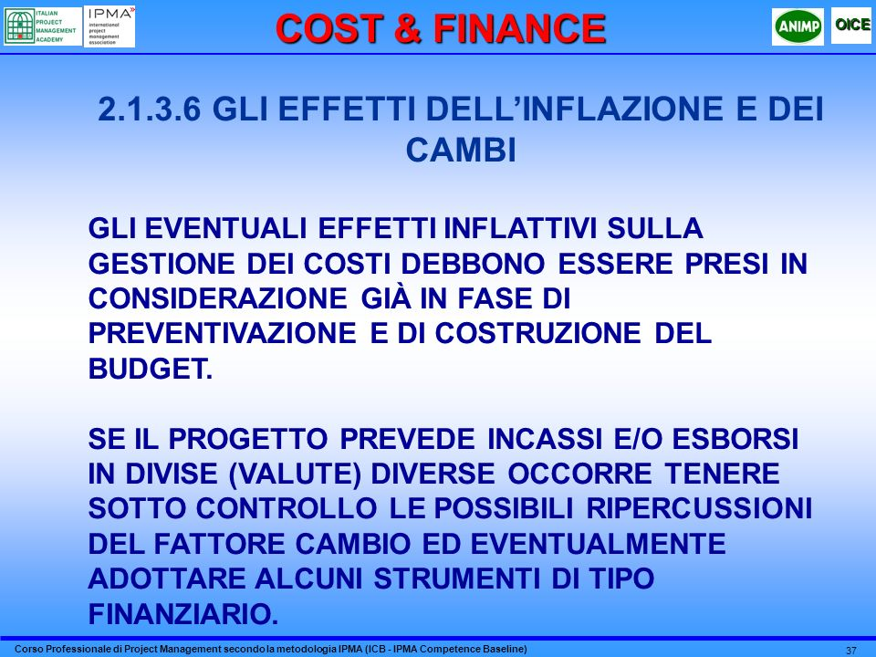 2.1.3.6 GLI EFFETTI DELL'INFLAZIONE E DEI CAMBI