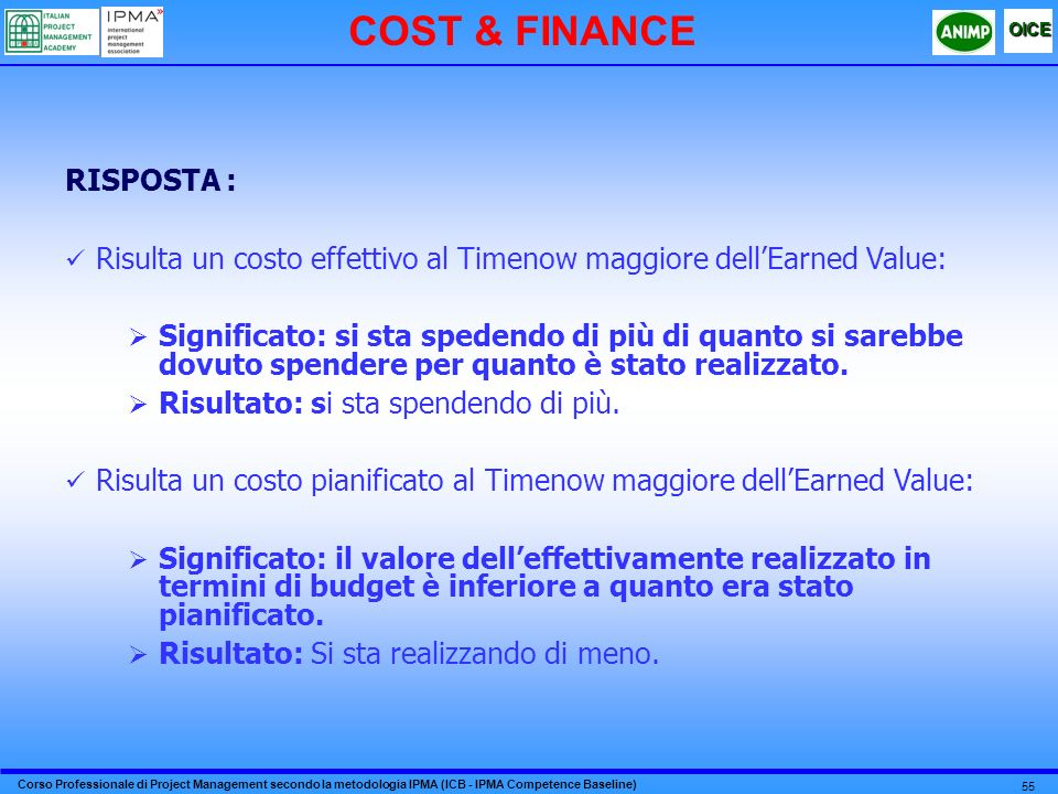 COST & FINANCE RISPOSTA :