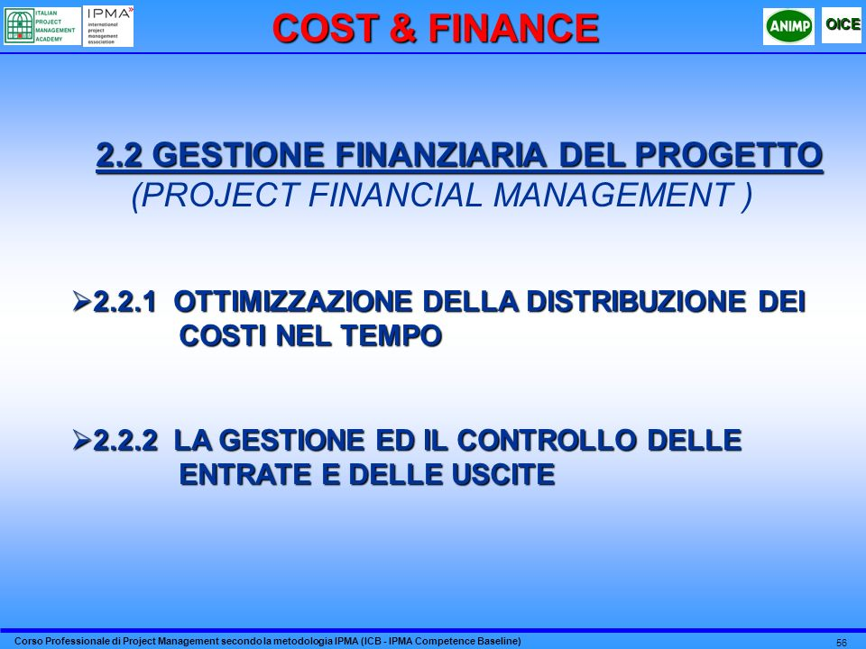 COST & FINANCE (PROJECT FINANCIAL MANAGEMENT )