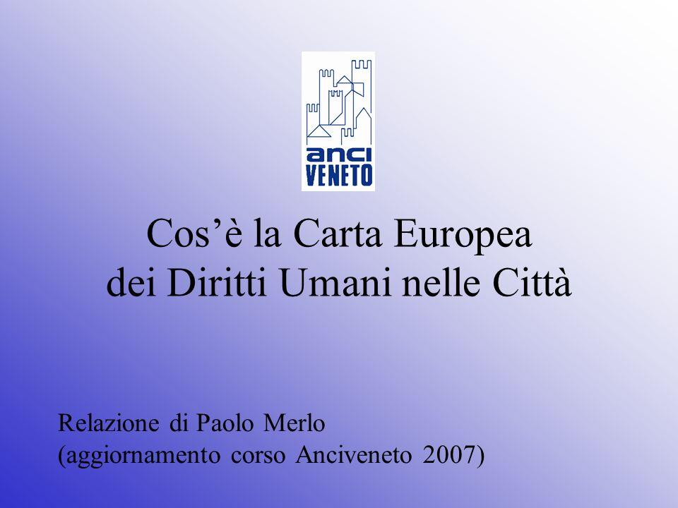 Cos'è la Carta Europea dei Diritti Umani nelle Città