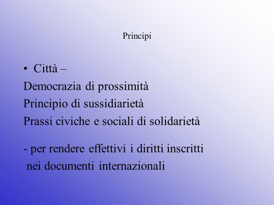 Democrazia di prossimità Principio di sussidiarietà