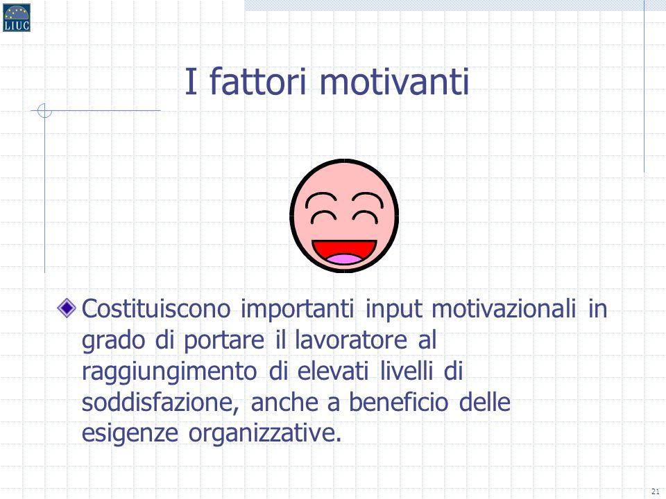 I fattori motivanti