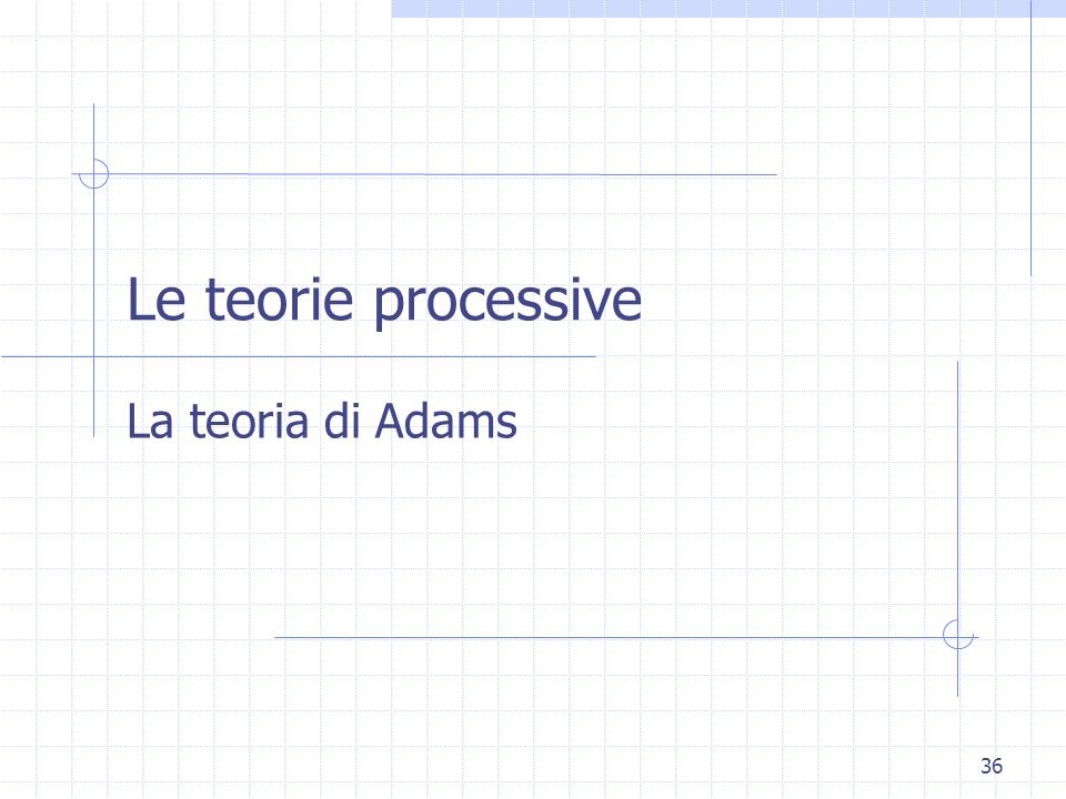 Le teorie processive La teoria di Adams