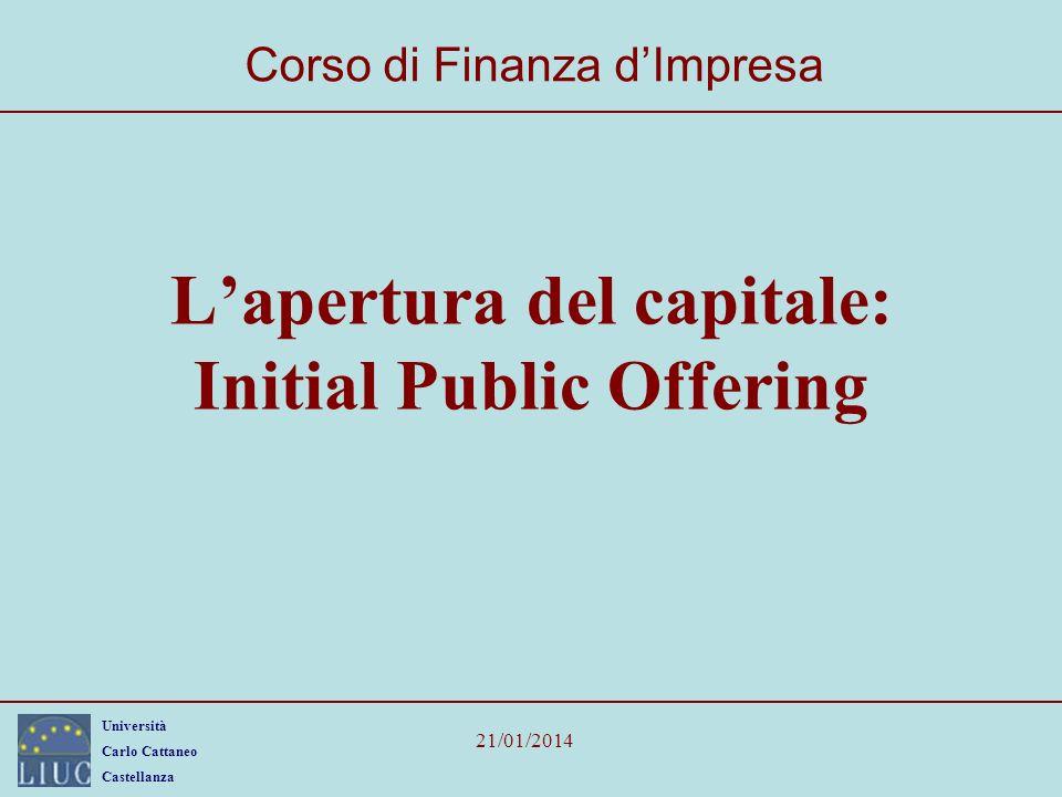 L'apertura del capitale: Initial Public Offering