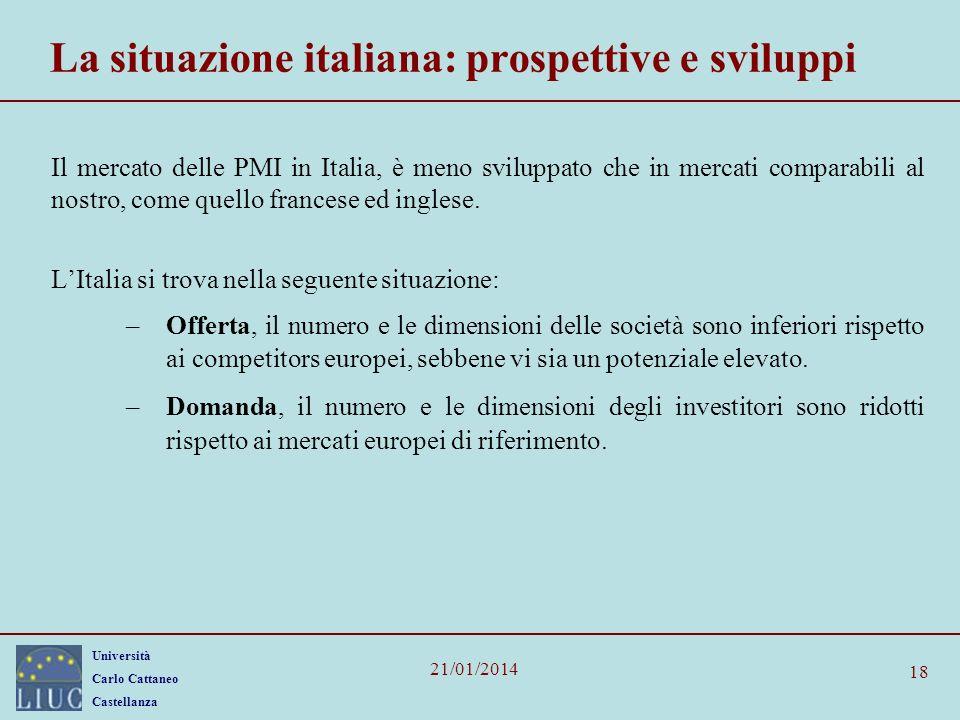 La situazione italiana: prospettive e sviluppi