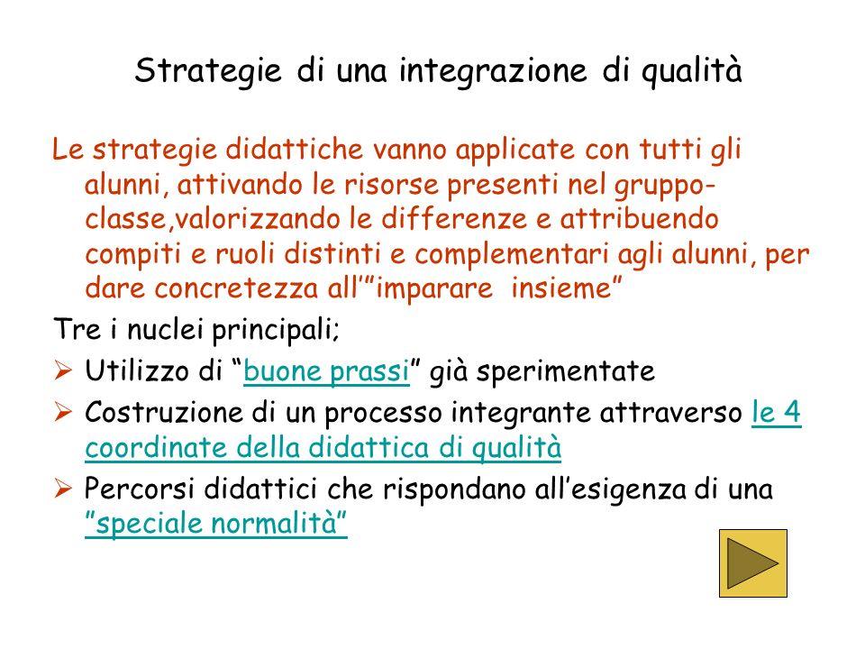 Strategie di una integrazione di qualità
