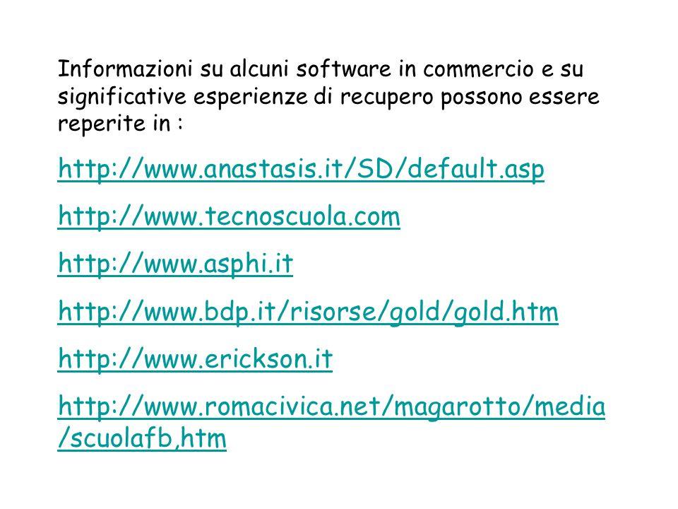 http://www.anastasis.it/SD/default.asp http://www.tecnoscuola.com
