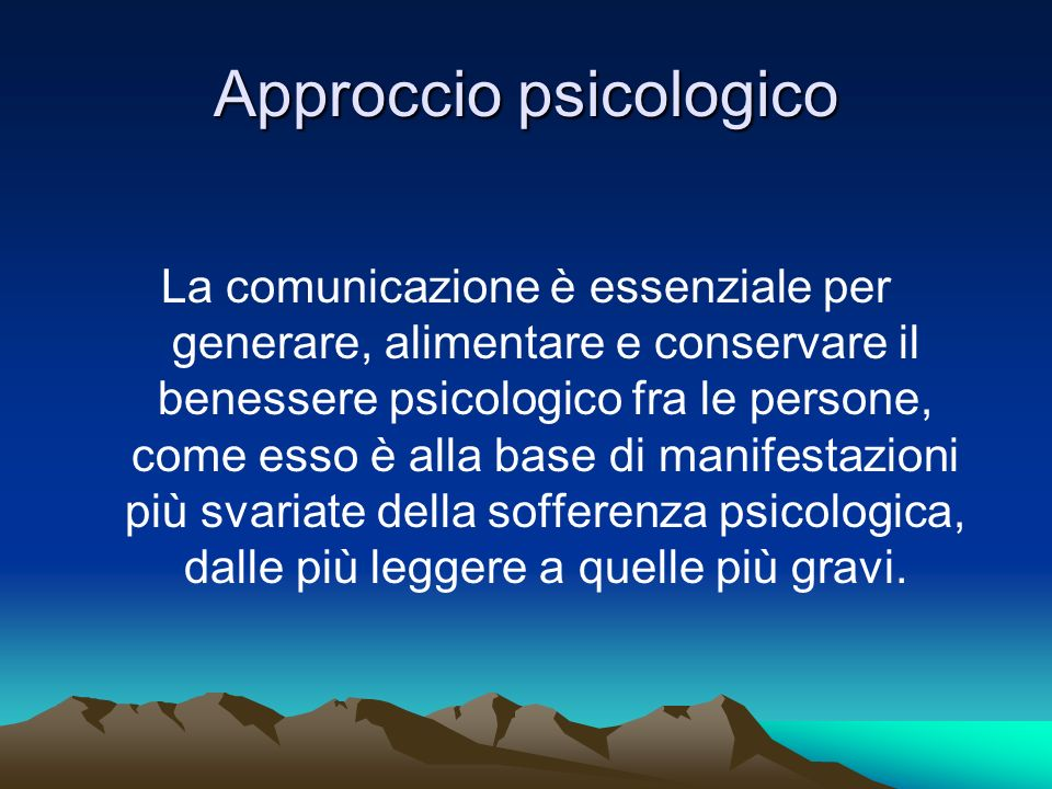 Approccio psicologico