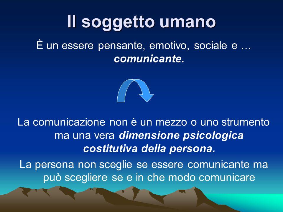 È un essere pensante, emotivo, sociale e … comunicante.