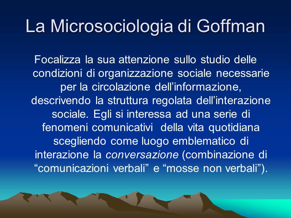 La Microsociologia di Goffman