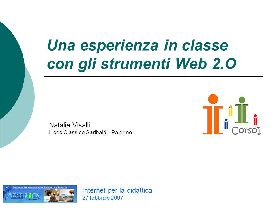 Una esperienza in classe con gli strumenti Web 2.O