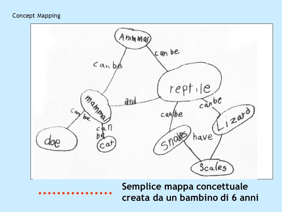 Semplice mappa concettuale creata da un bambino di 6 anni