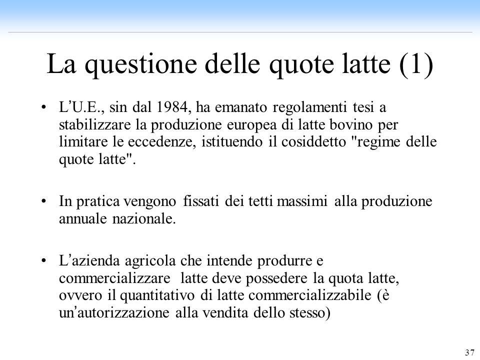 La questione delle quote latte (1)