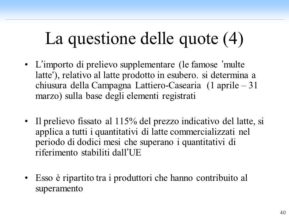 La questione delle quote (4)