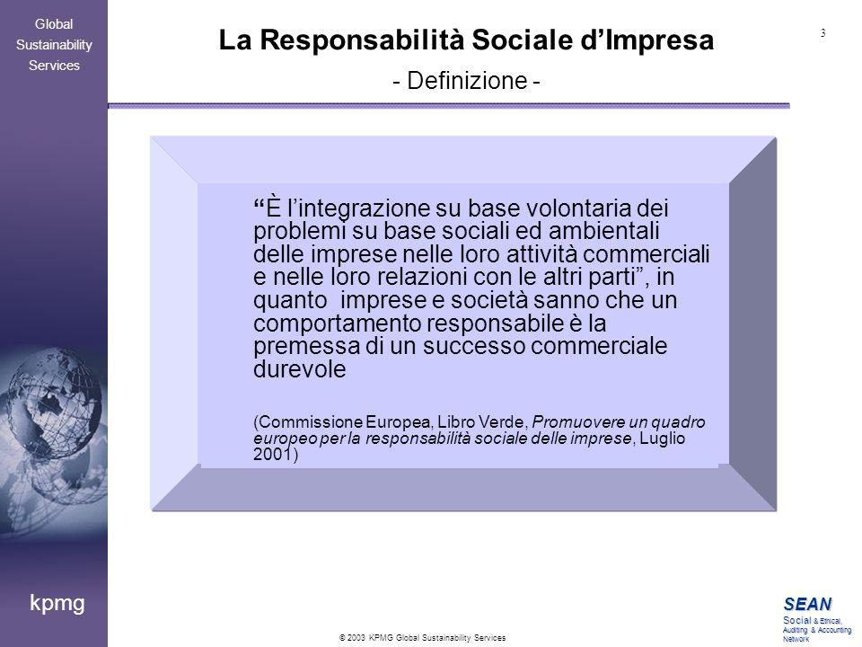La Responsabilità Sociale d'Impresa - Definizione -