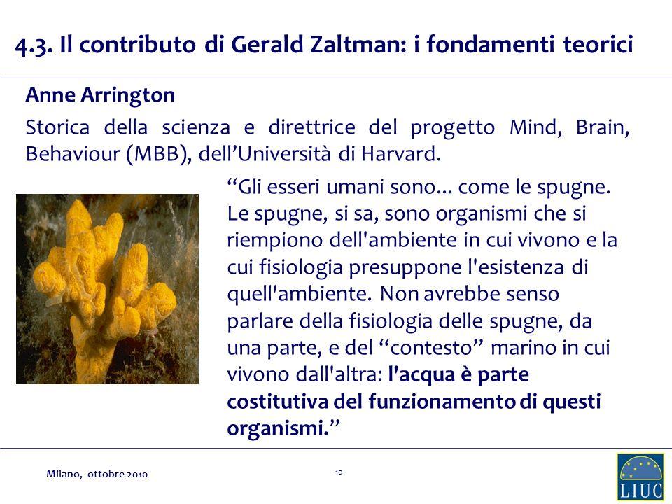 4.3. Il contributo di Gerald Zaltman: i fondamenti teorici