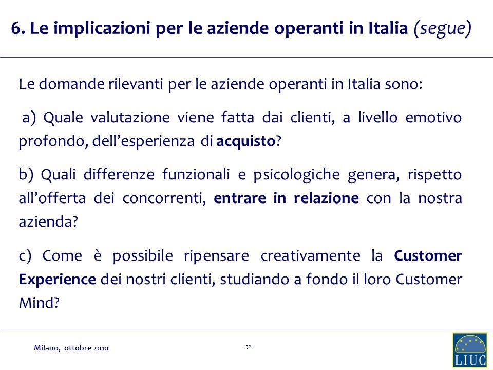 6. Le implicazioni per le aziende operanti in Italia (segue)