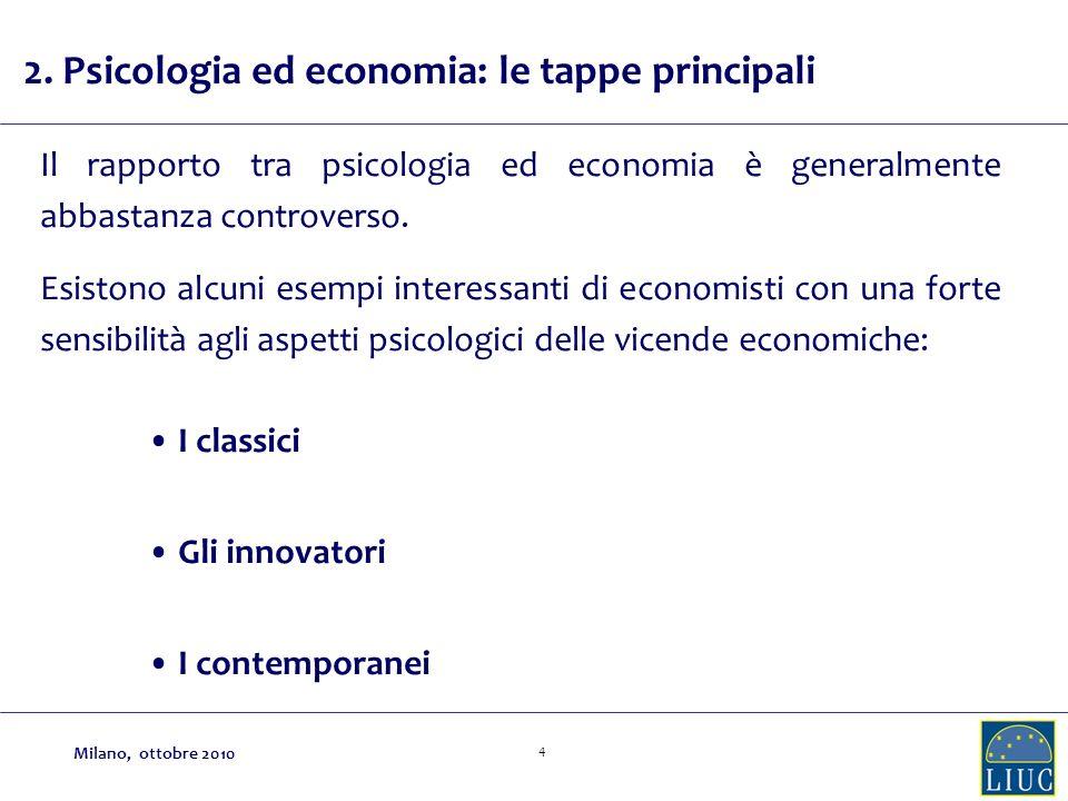 2. Psicologia ed economia: le tappe principali