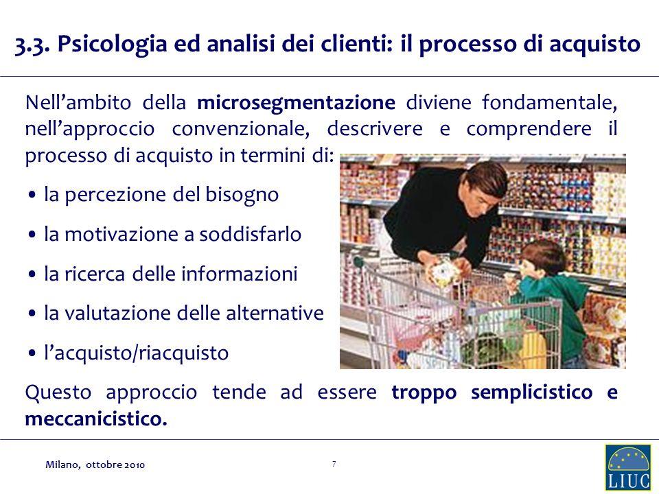 3.3. Psicologia ed analisi dei clienti: il processo di acquisto