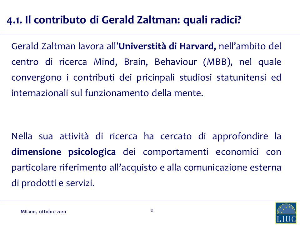 4.1. Il contributo di Gerald Zaltman: quali radici