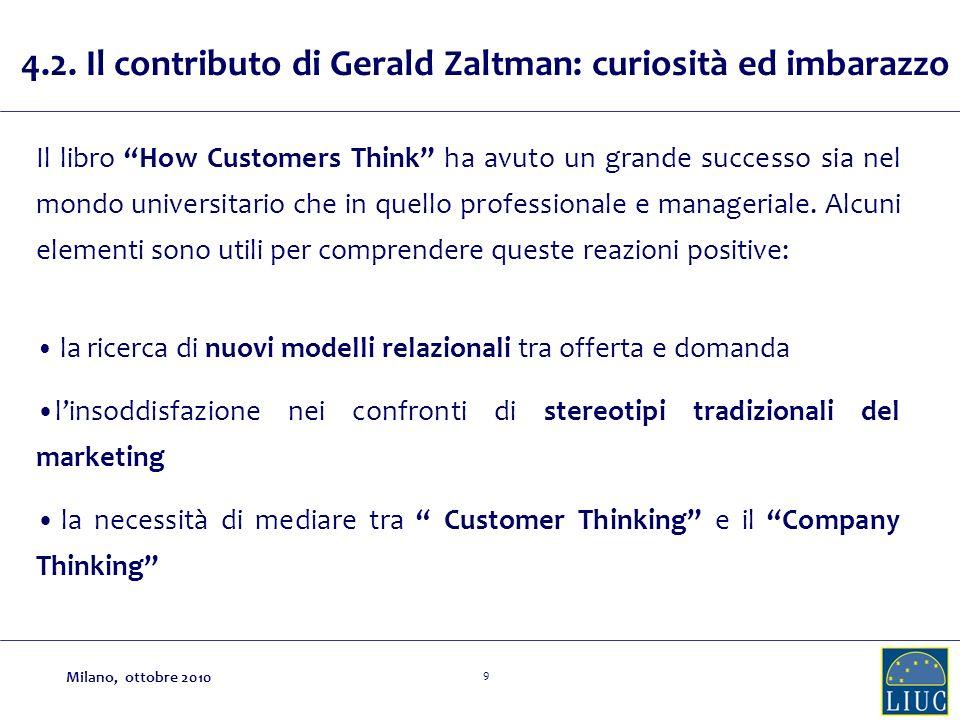 4.2. Il contributo di Gerald Zaltman: curiosità ed imbarazzo
