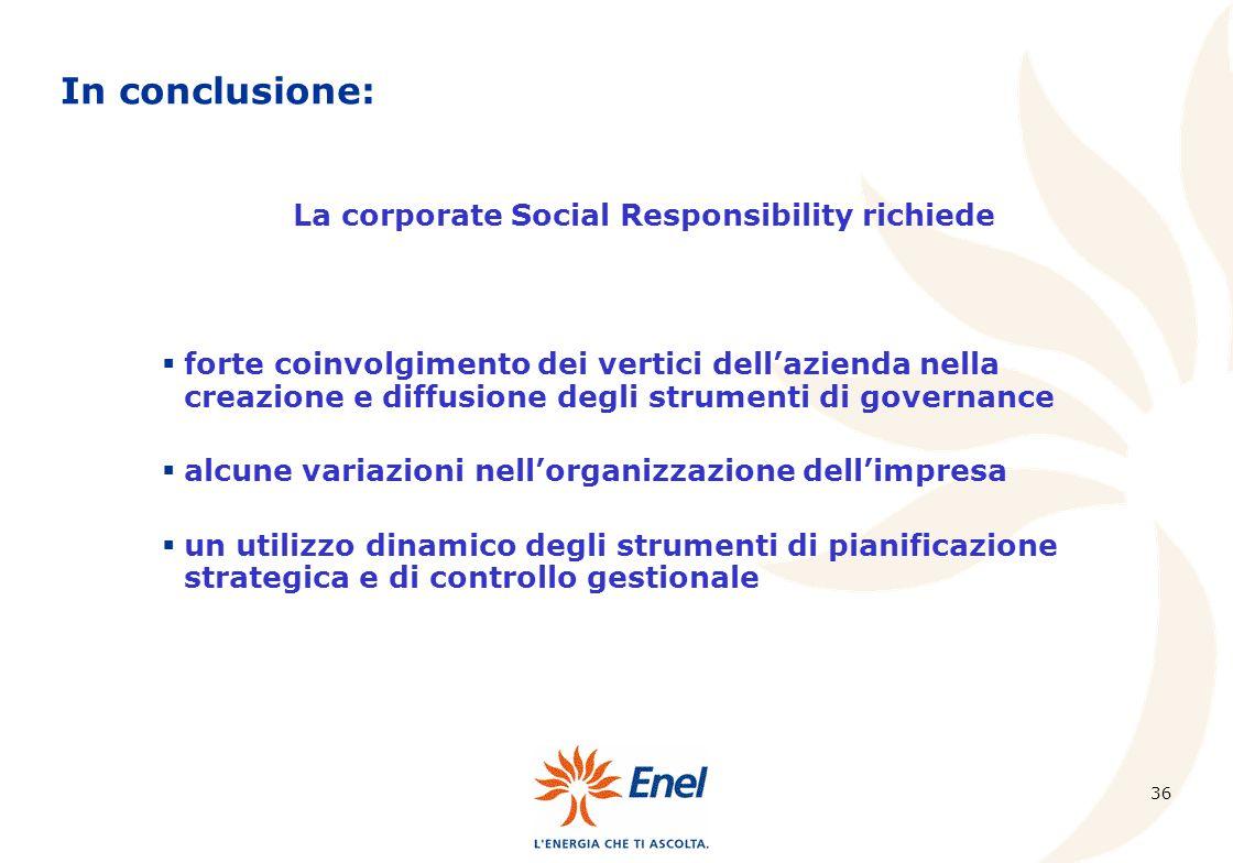 La corporate Social Responsibility richiede