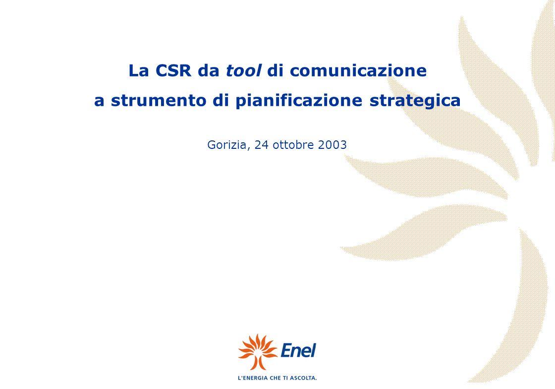 La CSR da tool di comunicazione