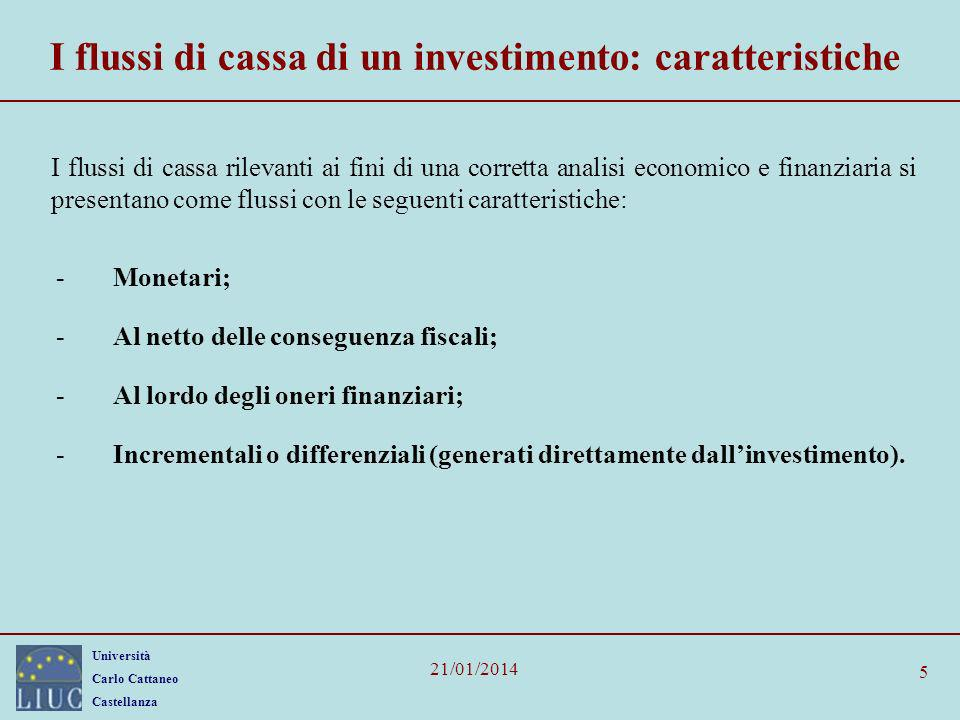 I flussi di cassa di un investimento: caratteristiche