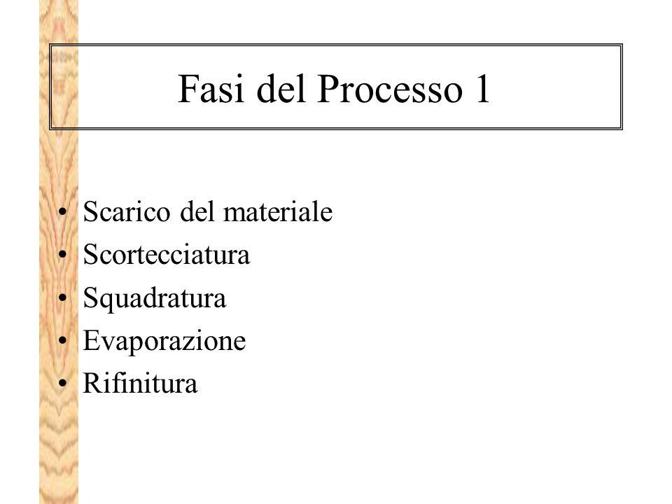 Fasi del Processo 1 Scarico del materiale Scortecciatura Squadratura