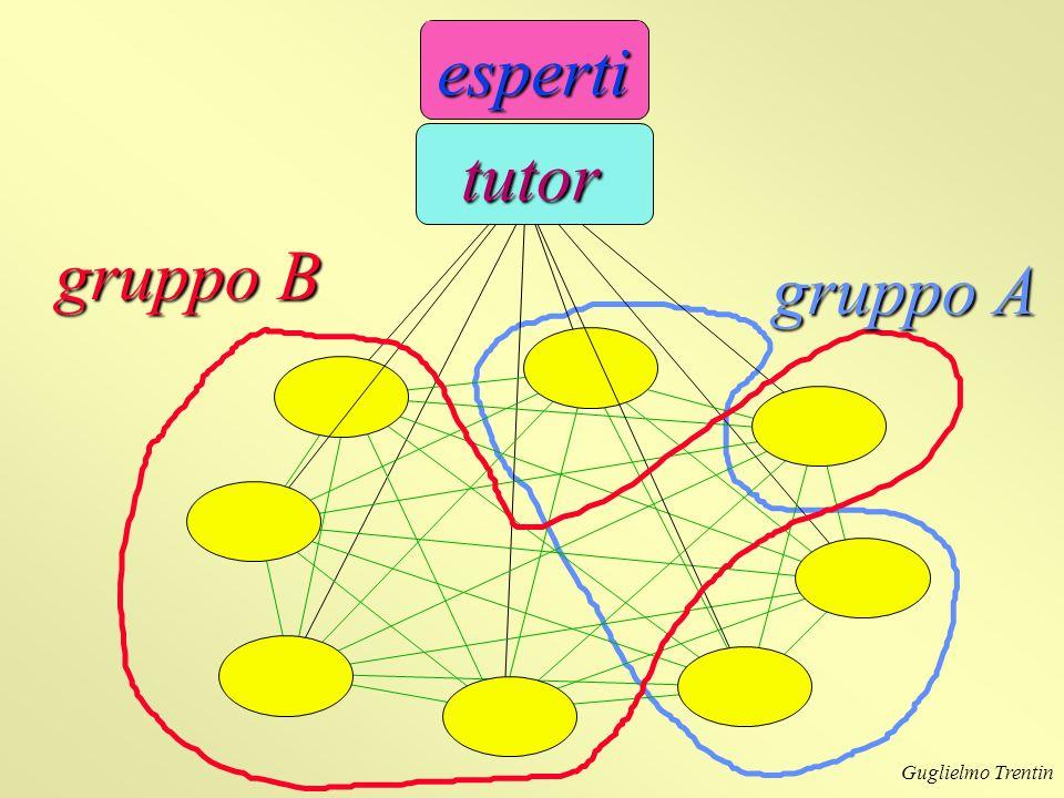 esperti tutor gruppo B gruppo A Guglielmo Trentin