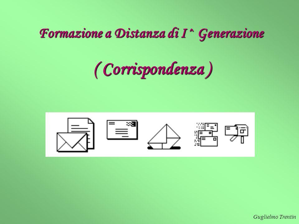 Formazione a Distanza di I^ Generazione