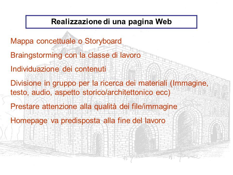 Realizzazione di una pagina Web