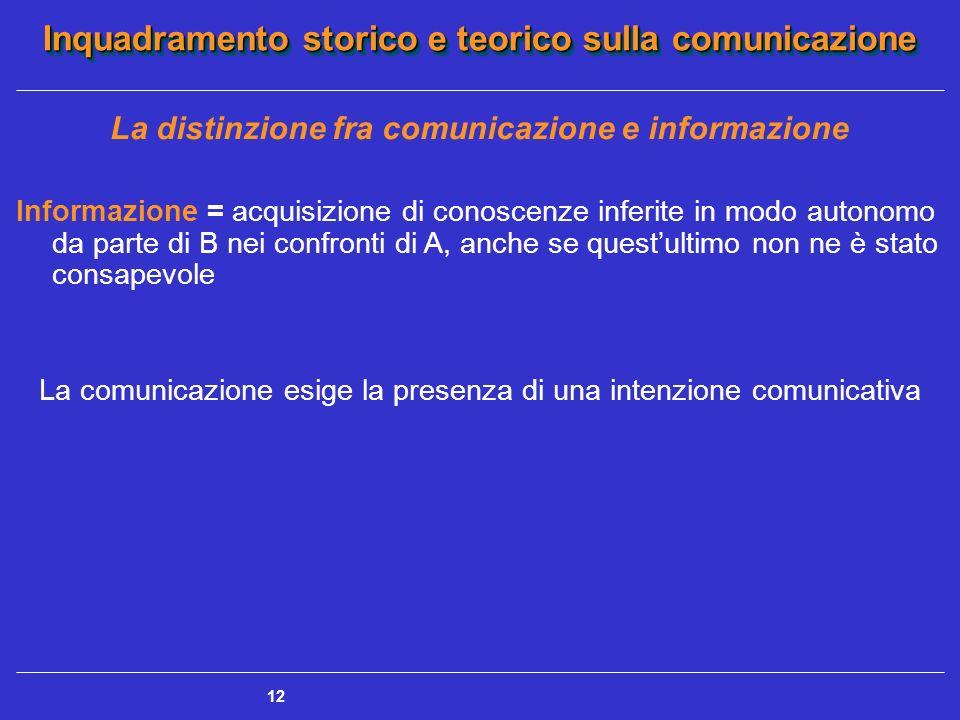 La distinzione fra comunicazione e informazione
