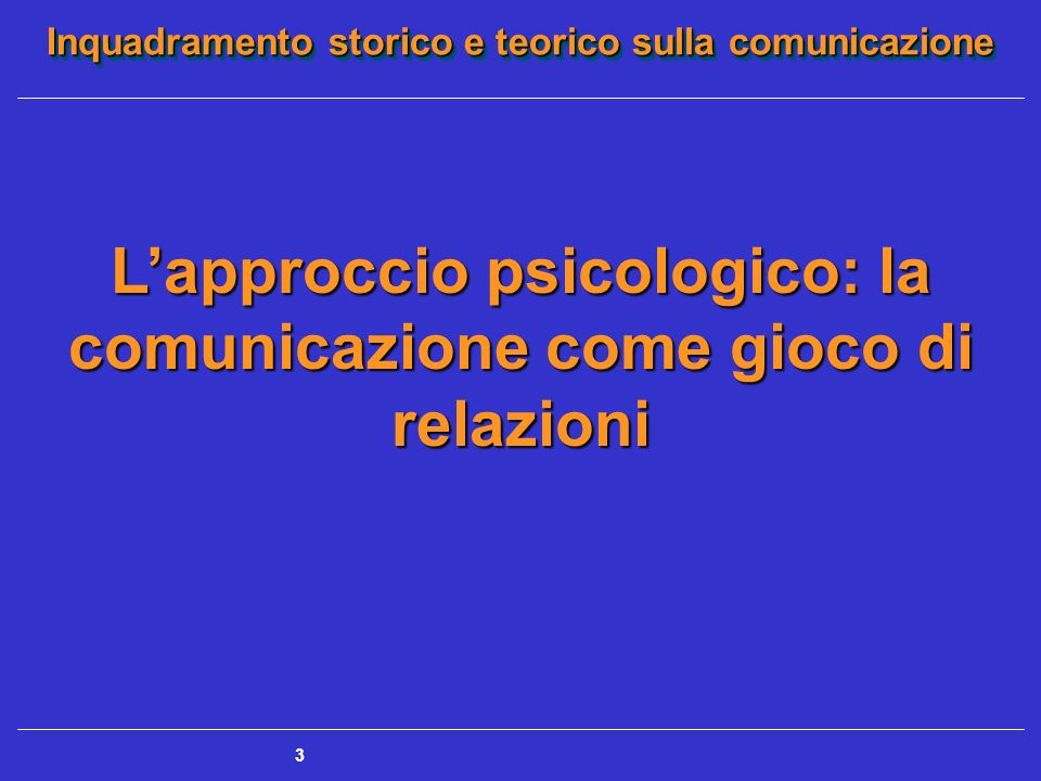 L'approccio psicologico: la comunicazione come gioco di relazioni