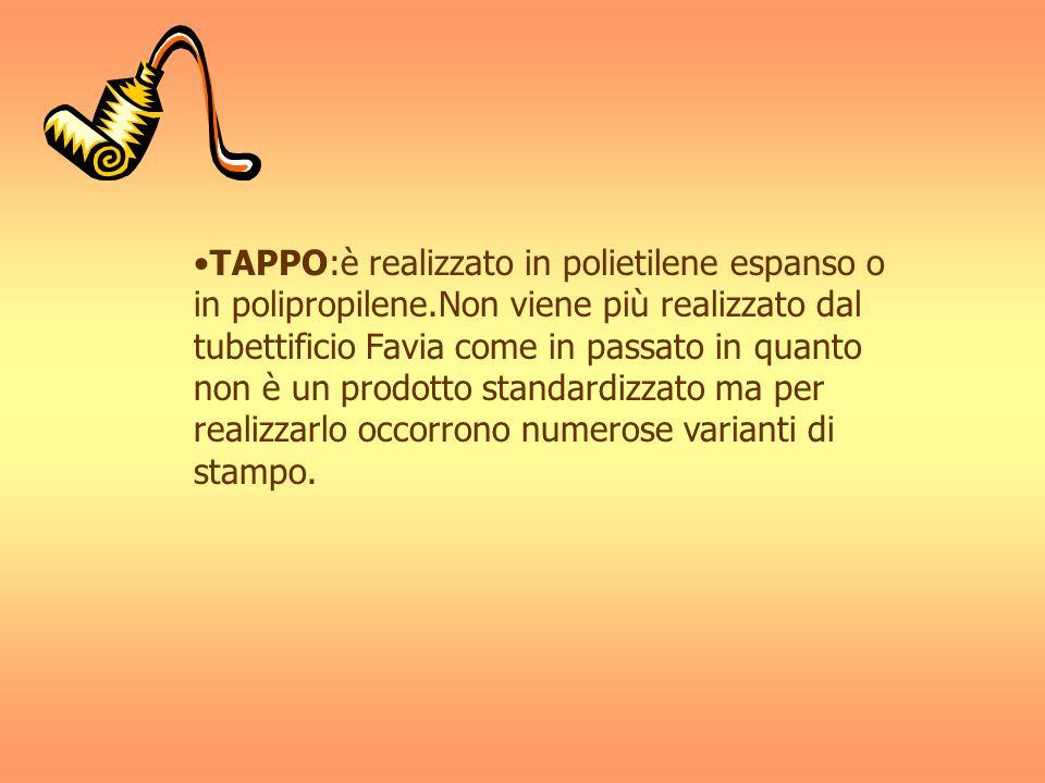 TAPPO:è realizzato in polietilene espanso o in polipropilene