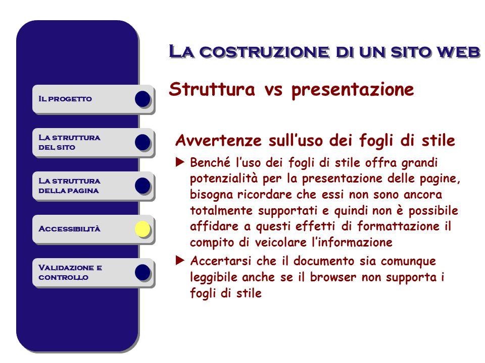 Struttura vs presentazione
