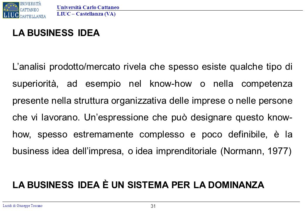 LA BUSINESS IDEA