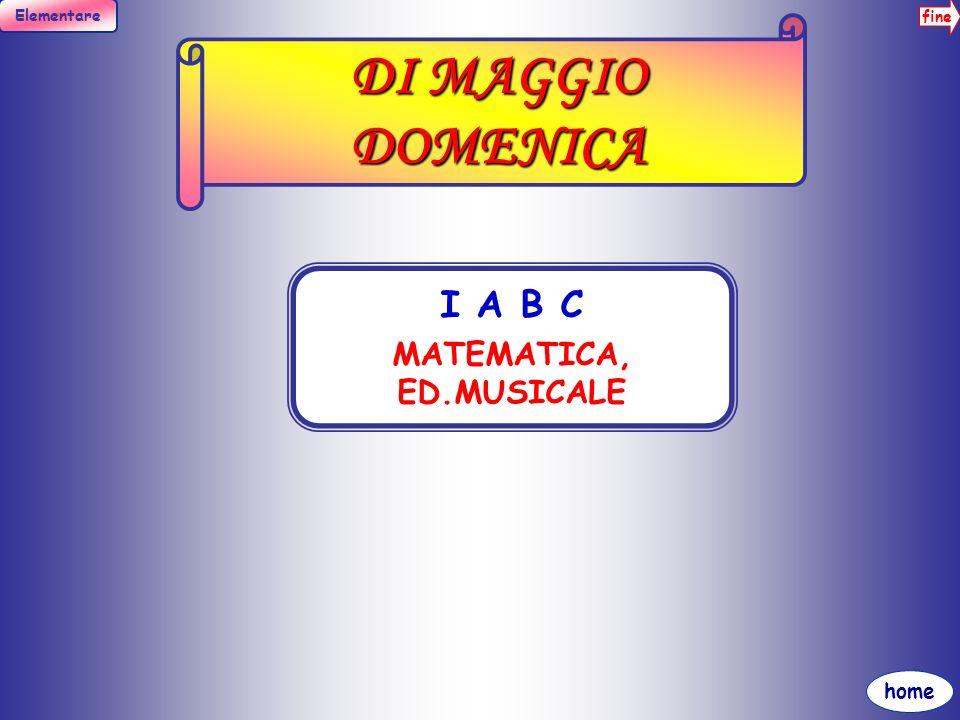 MATEMATICA, ED.MUSICALE