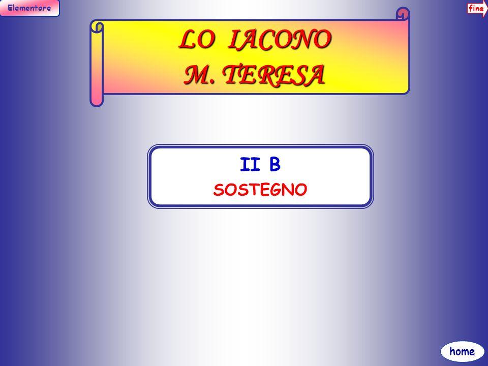 LO IACONO M. TERESA II B SOSTEGNO