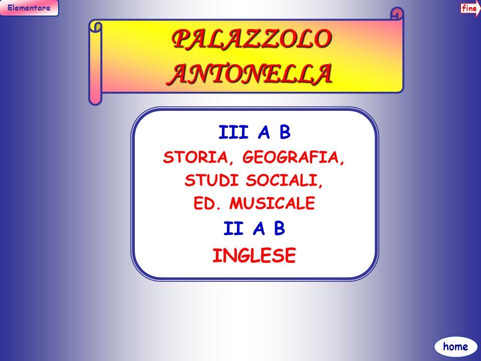 PALAZZOLO ANTONELLA III A B II A B INGLESE STORIA, GEOGRAFIA,
